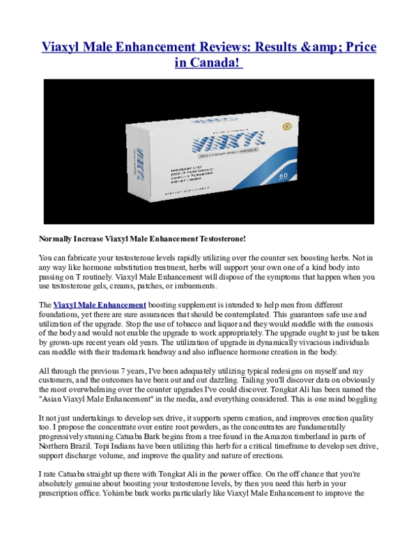 PDF) Viaxyl Male Enhancement Reviews: Results & Price in