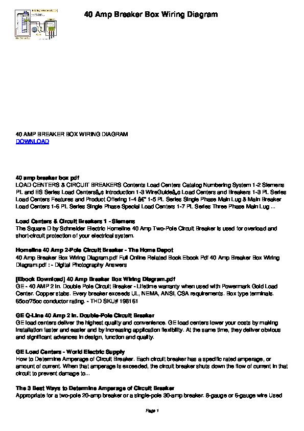 Pdf Amp Breaker Box Wiring Diagram Foon Tage Academia Edu