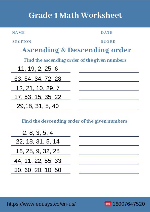 PDF) 1st grade free pdf math worksheet printable | nithya