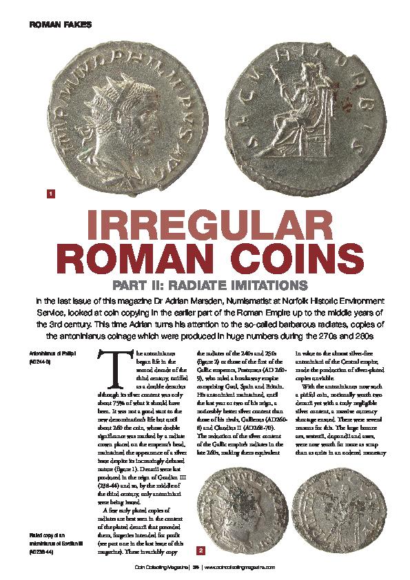 PDF) Irregular Roman Coins Part II: Radiate imitations | Adrian