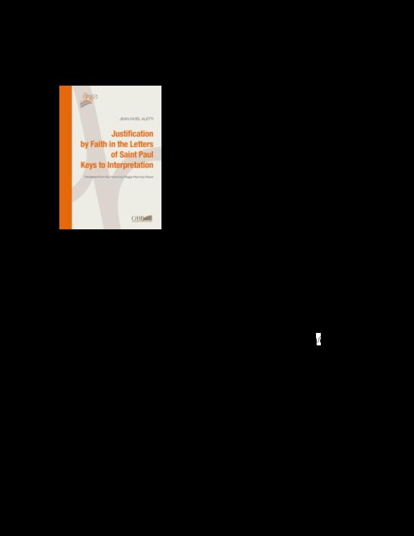 PDF) Book review rbl justification by faith | Dr  Jeffrey L