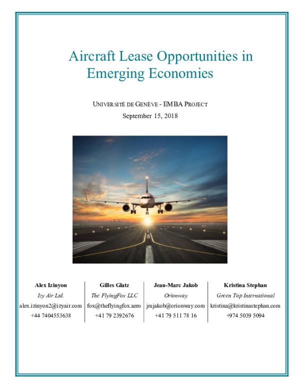 PDF) Aircraft Lease Opportunities in Emerging Economies