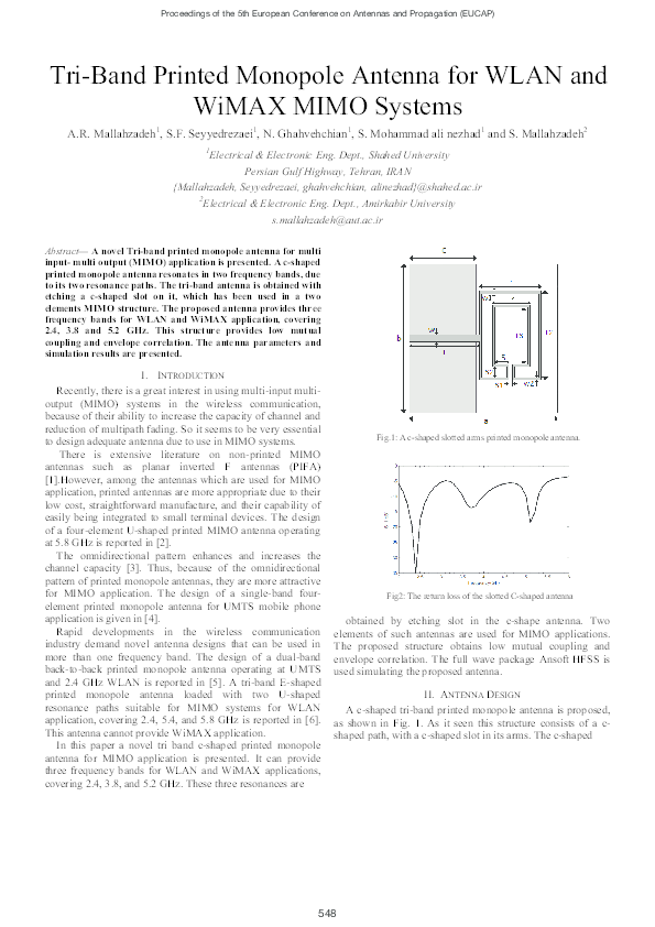 PDF) Tri-Band Printed Monopole Antenna for WLAN and WiMAX