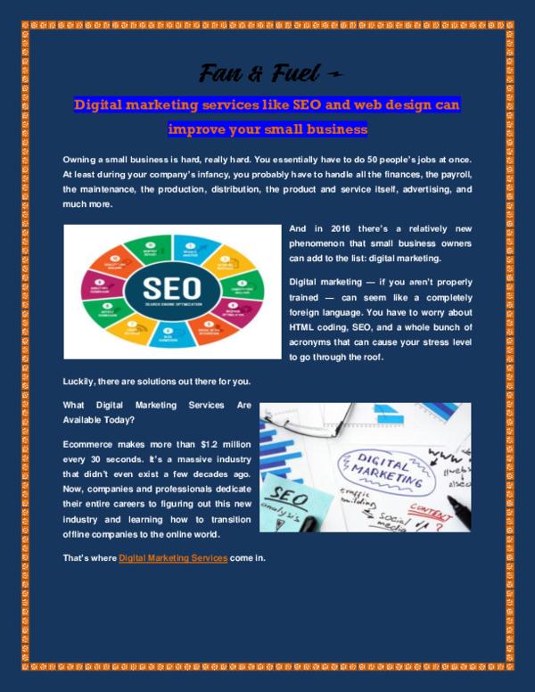 PDF) Digital marketing services   Fan Fuel - Academia edu