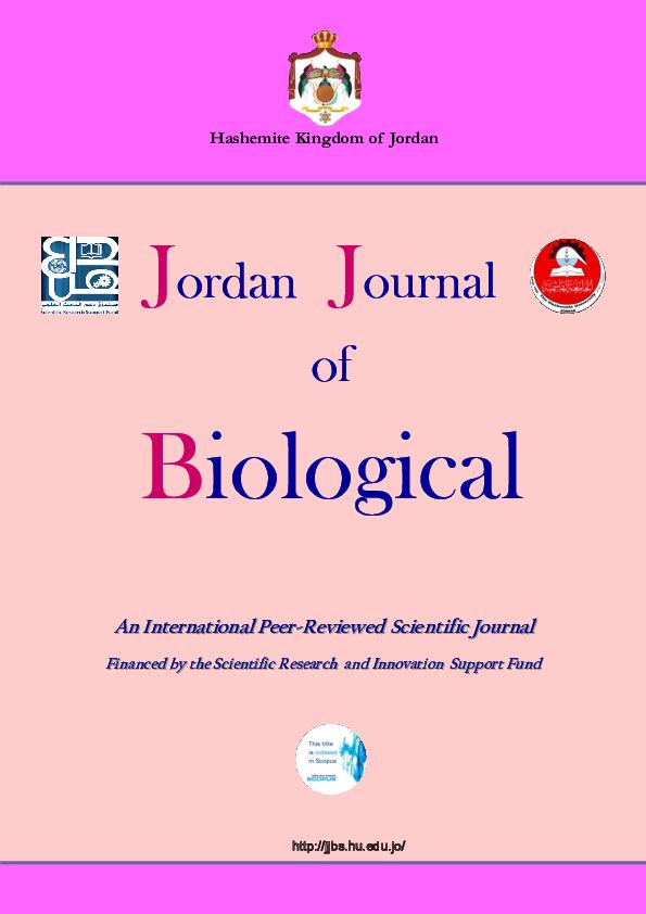 PDF) Jordan Journal of Biological Hashemite Kingdom of