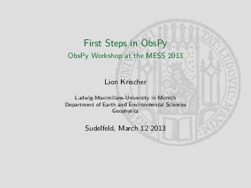 PDF) First Steps in ObsPy | Samsul Wiyono - Academia edu