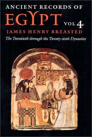 PDF) Ancient Records of Egypt Vol 4 The Twentieth Through the Twenty