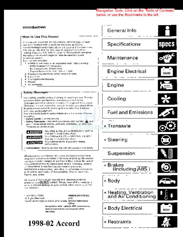 PDF) -2002 Honda Accord SM | Suriel Tello - Academia edu