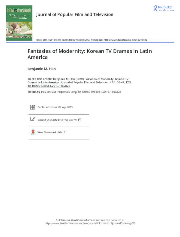 PDF) Fantasies of Modernity: Korean TV Dramas in Latin America