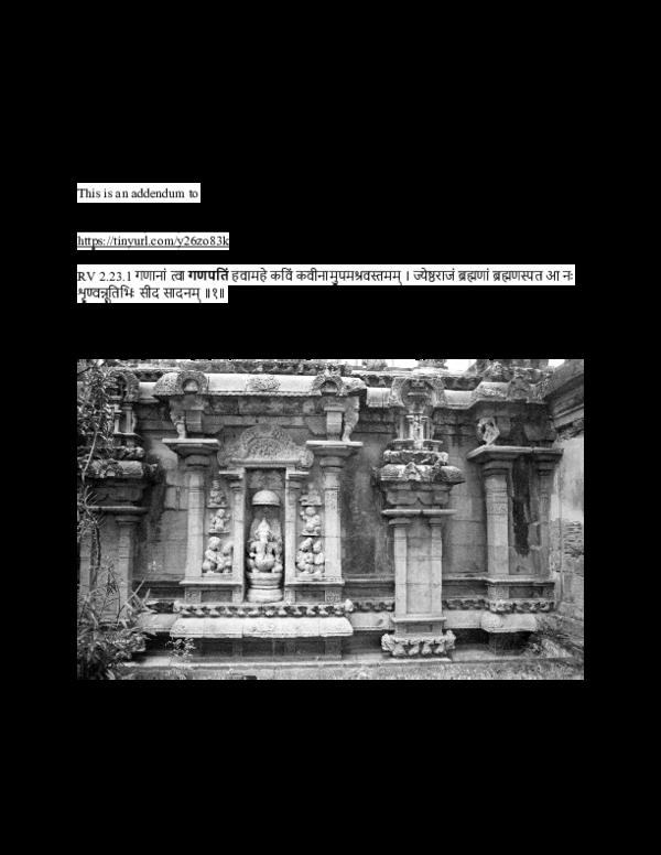 PDF) R̥gveda invokes Gaṇapati, kavi, synonym is tri-dhātu