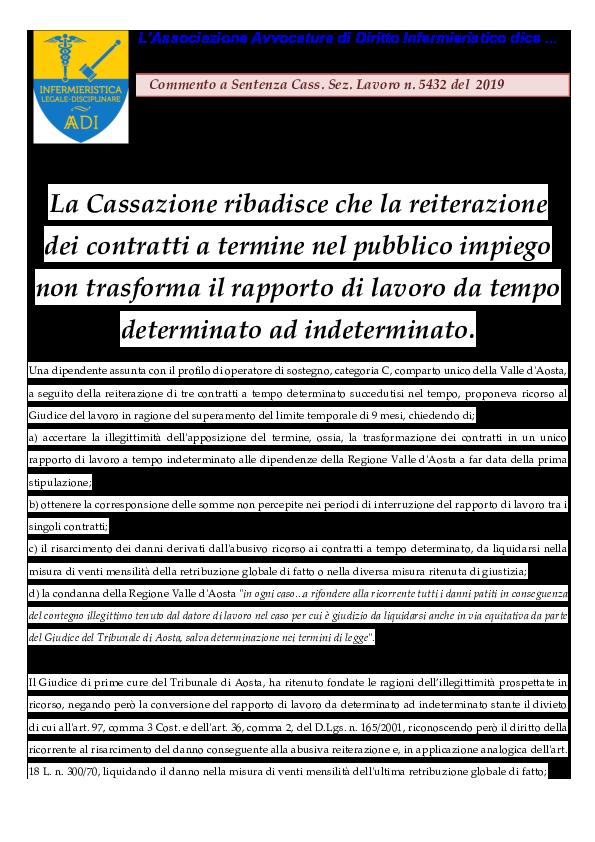 Pdf Successione Di Contratti A Termine Carlo Pisaniello