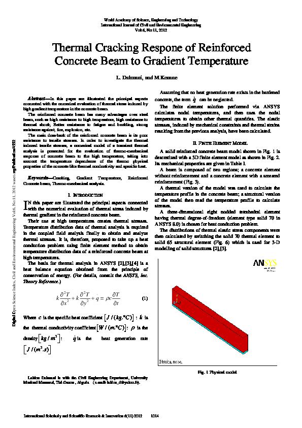 PDF) Thermal cracking in beams | khaleel shaik - Academia edu