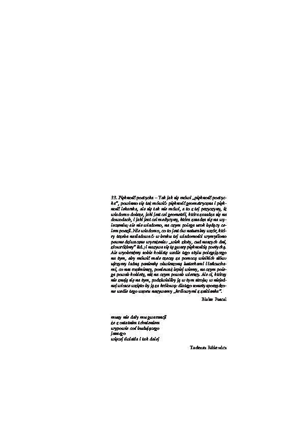 Pdf Teoria Barw Tadeusza Różewicza Michał Mrugalski
