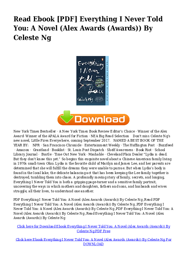 everything i never told you free download pdf