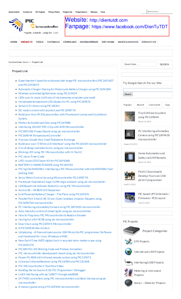 PDF) Pic Microcontroller Offline Projects List 800 projects | Trieu