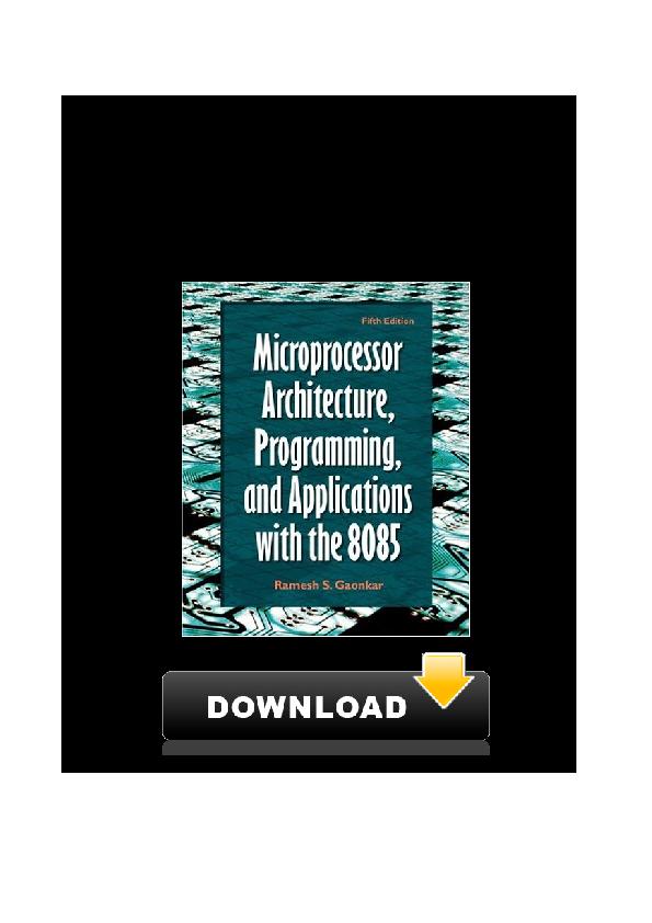 Ramesh Gaonkar Microprocessor 8085 Ebook