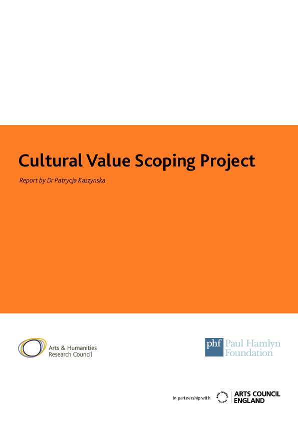 PDF) Cultural Value Scoping Project | Patrycja Kaszynska