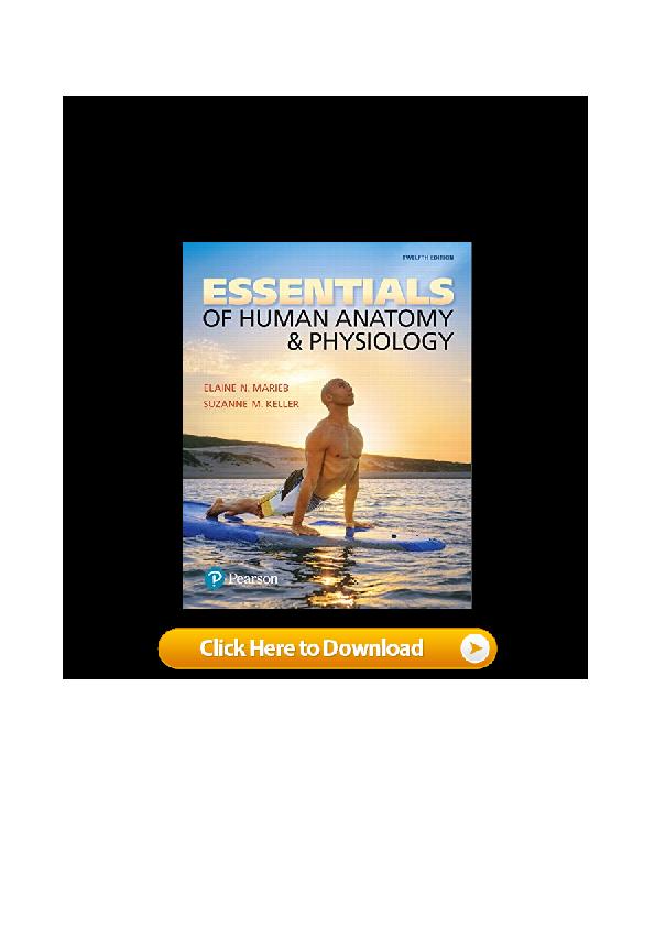 PDF) PDF Essentials of Human Anatomy & Physiology (12th