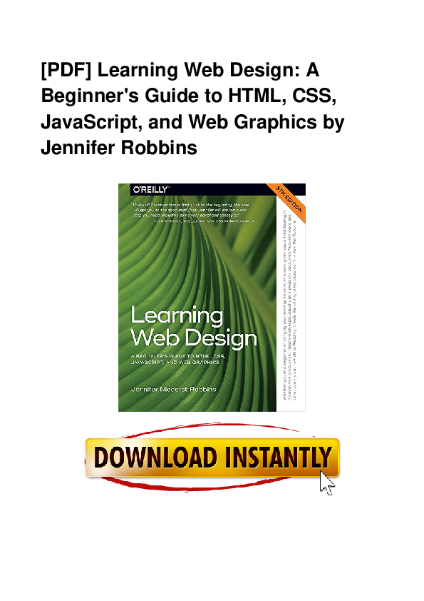 PDF) PDF Book Learning Web Design A Beginner s Guide To HTML