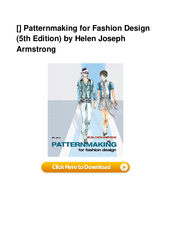 Pdf Pdf Book Patternmaking For Fashion Design 5th Edition Word Hf Blaky Rosle Academia Edu
