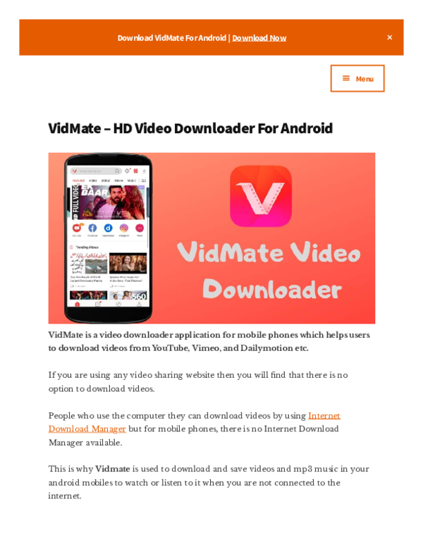 Pdf Vidmate Apk Download 2019 Official Vidmate Academia Edu