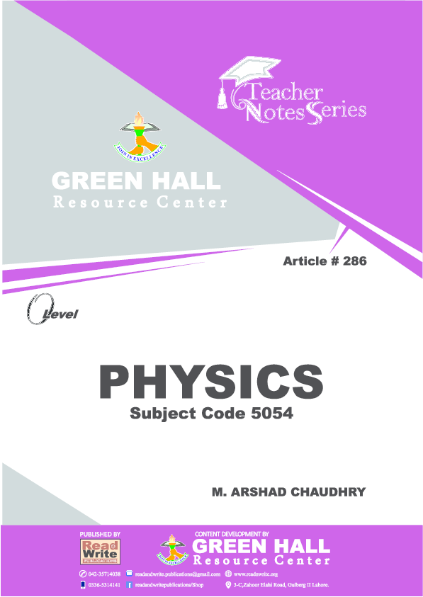 PDF) PHYSICS NOTES (Course Book | Read and Write Publications
