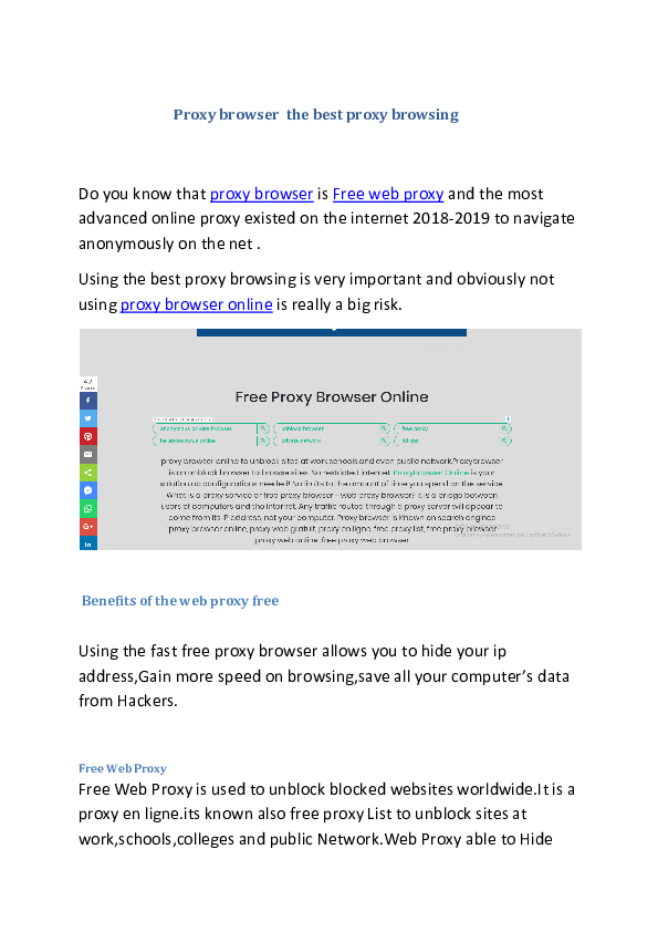PDF) Proxy browser the best proxy browsing | Best IPTV - Academia edu