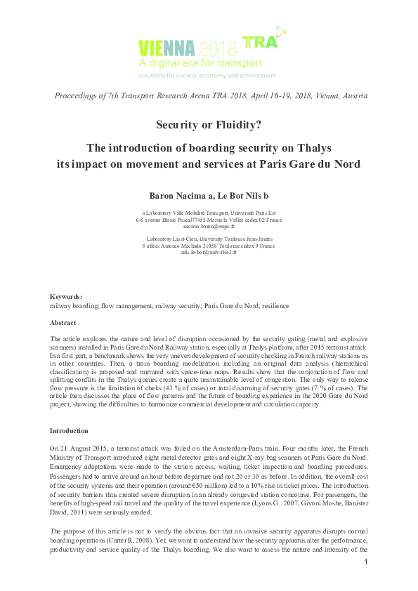 PDF) Security or Fluidity? The introduction of boarding security on