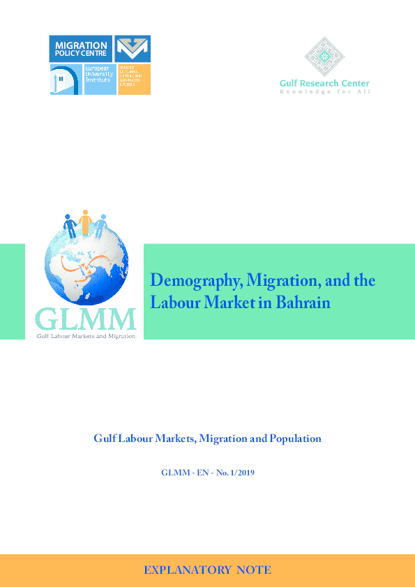 PDF) Demography, Migration, and the Labour Market in Bahrain