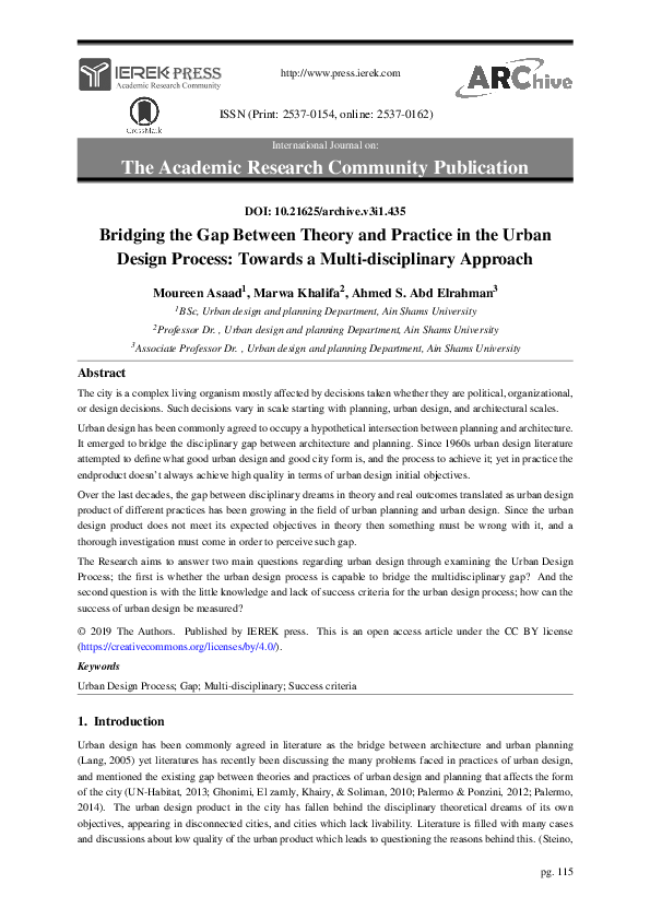 PDF) Bridging the Gap Between Theory and Practice in the
