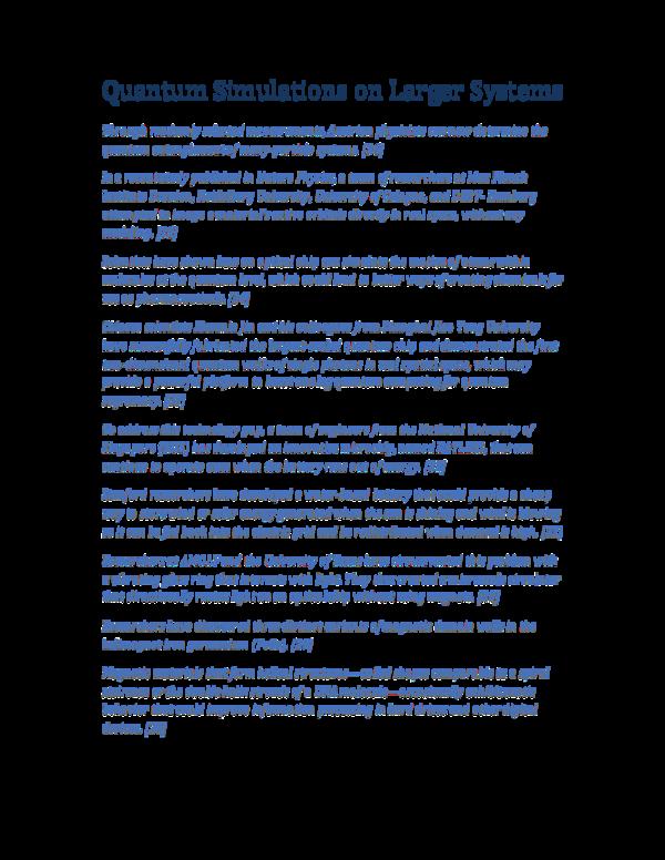 PDF) Quantum Simulations on Larger Systems   George Rajna