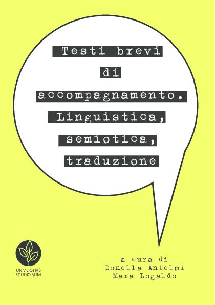 PDF) Testi brevi di accompagnamento  Linguistica, semiotica