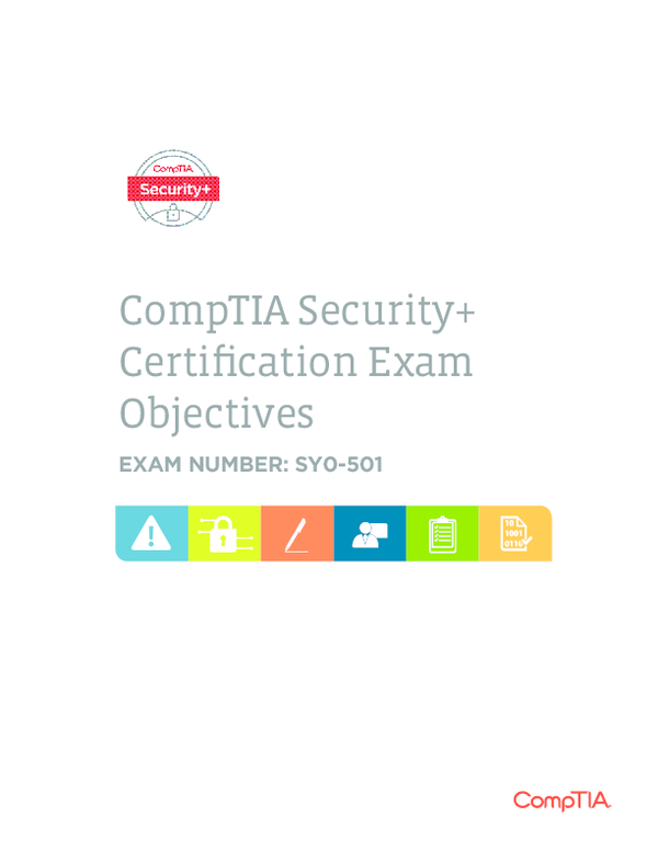PDF) CompTIA Security+ Certification Exam Objectives EXAM NUMBER