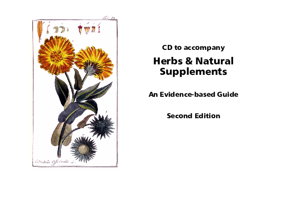 PDF) Herbs & Natural Supplements An Evidence-based Guide