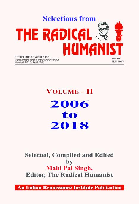 PDF) Selections from The radical Humanist Vol  II | Mahi Pal Singh