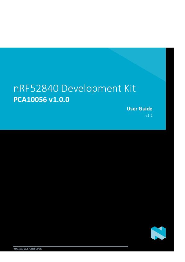 PDF) nRF52840 Development Kit PCA10056 v1 0 0 User Guide v1