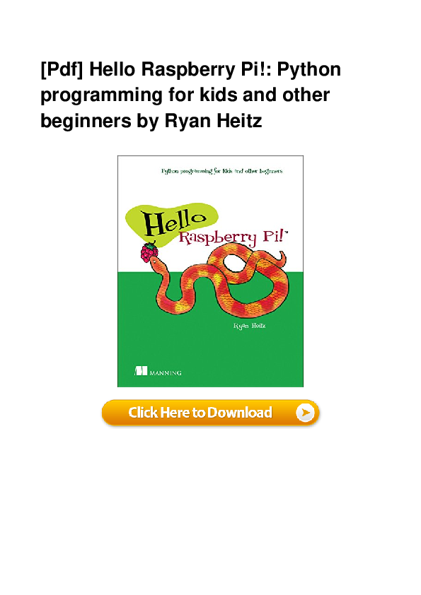 PDF) Full Book Hello Raspberry Pi Python Programming For
