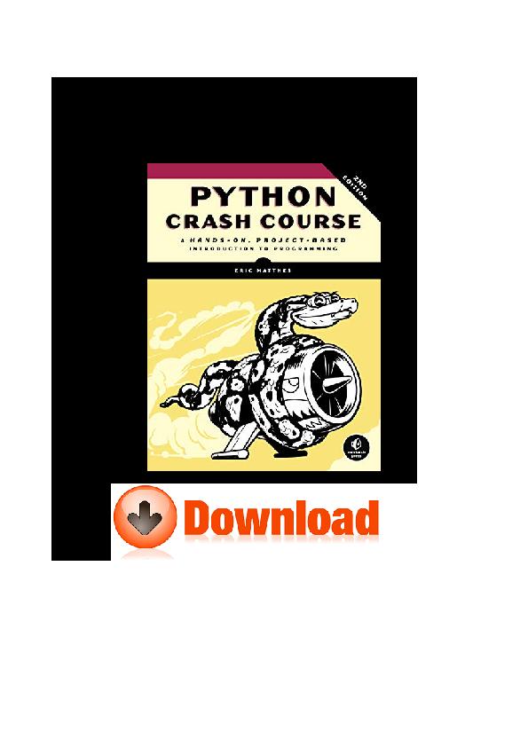 PDF) Full Book Python Crash Course 2nd Edition DOC GZ