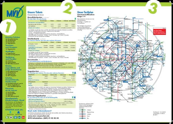 Mvv Zonen Karte.Mvv 2 Ringe Der Mvv Tarifplan Munich 2019 06 30