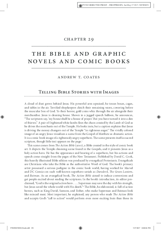 PDF) The Bible and Graphic Novels and Comic Books | Andrew T