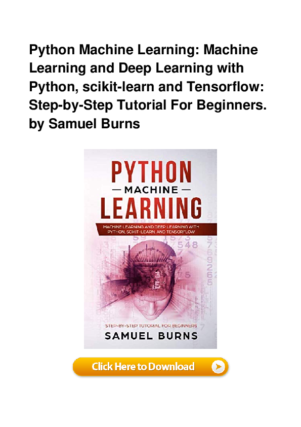 PDF) PDF Python Machine Learning Machine Learning And Deep Learning