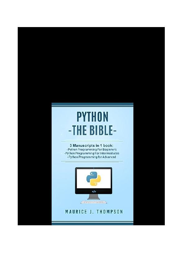 PDF) PDF Python The Bible 3 Manuscripts In 1 Book Python