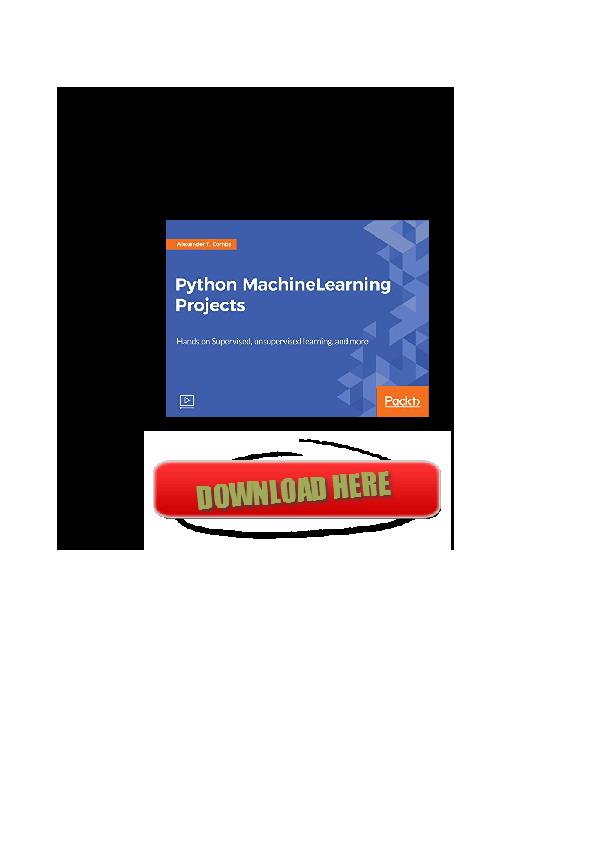 PDF) Pdf Python Machine Learning Projects ZIP AZ | Alvin K White