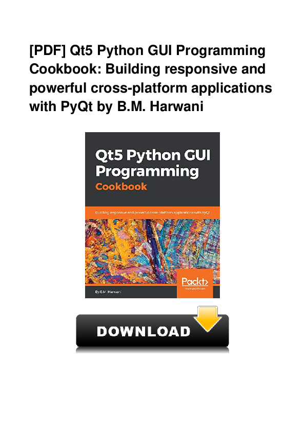 PDF) PDF Qt5 Python GUI Programming Cookbook Building
