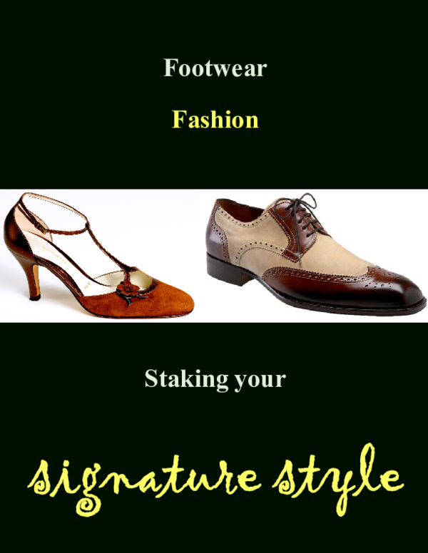 fc733b5828a962 PDF) Footwear Fashion Design - Staking Your Signature Style  Free ...