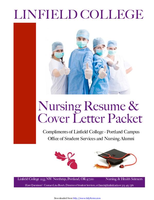 PDF) Nursing Resume & Cover Letter Packet Compliments of ...