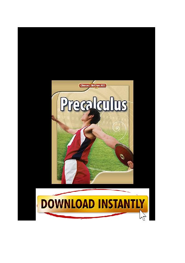 PDF) PDF Glencoe Precalculus Student Edition ADVANCED MATH