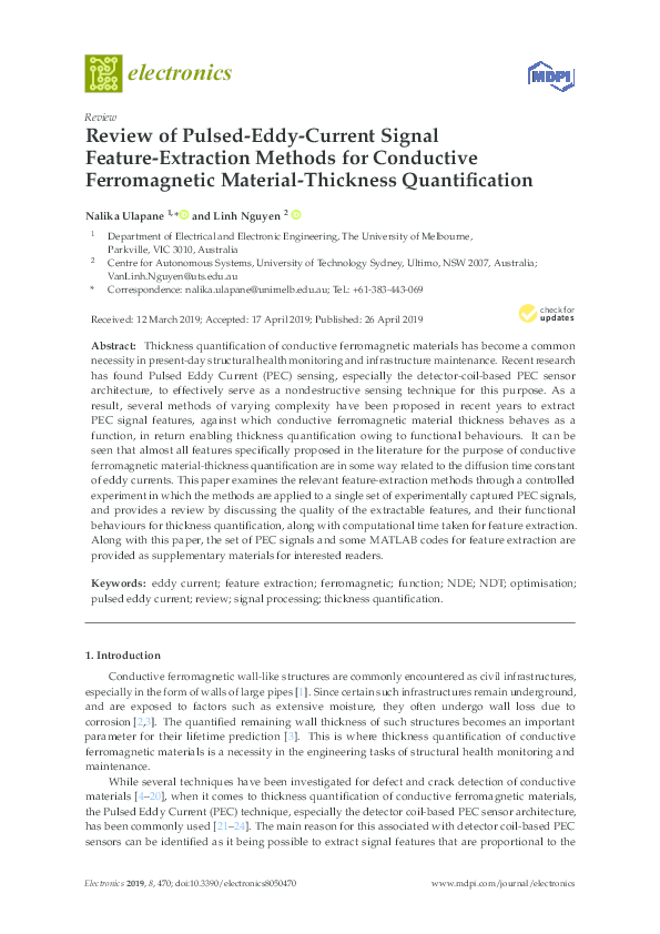PDF) Review of Pulsed-Eddy-Current Signal Feature-Extraction