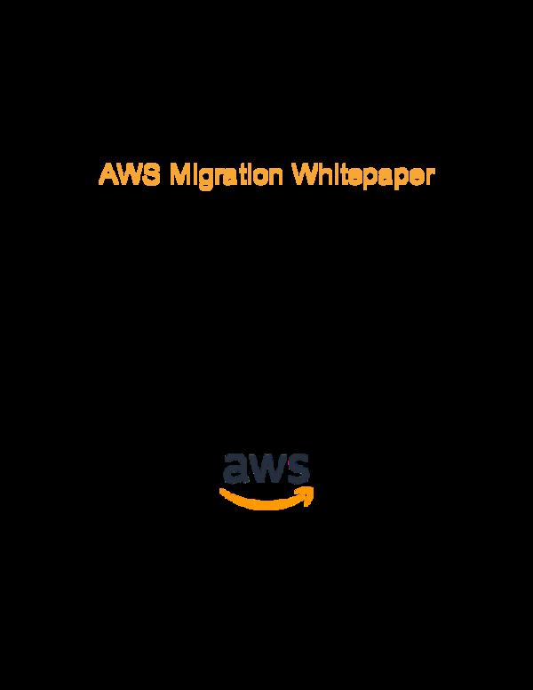 PDF) AWS Migration Whitepaper AWS Professional Services