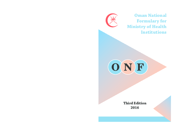 PDF) Oman National Formulary for Ministry of Health Institutions